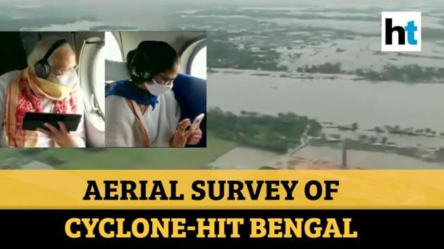 Prime Minister Narendra Modi conducted aerial survey of cyclone Amphan-hit areas in West Bengal. CM Mamata Banerjee also accompanied PM Modi in reviewing affected areas. PM Modi was received by CM Banerjee and Governor Jagdeep Dhankhar on arrival at Kolkata Airport. Earlier, PM Modi left from New Delhi for Bengal to take stock of the situation. Following aerial survey, PM Modi will take part in review meetings. The Prime Minister will also visit Odisha later in the day. Cyclone Amphan has left 72 people dead and thousands homeless in Bengal. PM Modi is on his first visit to both the states after 83 days of Covid-19 lockdown.
