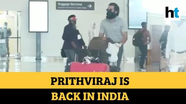 Malayalam actor Prithviraj Sukumaran and the 58-member crew of his upcoming film Aadujeevitham landed in Kochi. The actor along with the crew members were stranded in Jordan for over two months due to Covid-19 lockdown. In a video, Prithviraj and the crew members are seen coming out of Cochin International Airport. The video was released by Ernakulam district administration. As part of Vande Bharat Mission phase II, the team headed from Jordan on May 21. The team of Aadujeevitham was brought back on a special Air India flight. All of them will be quarantined for seven days as a preventive measure. Director Blessy and his team members were shooting in Jordan's Wadi Rum desert. Aadujeevitham is based on critically-acclaimed eponymous 2008 novel about an abused migrant worker in Saudi Arabia. The film also stars Amala Paul as the leading lady.
