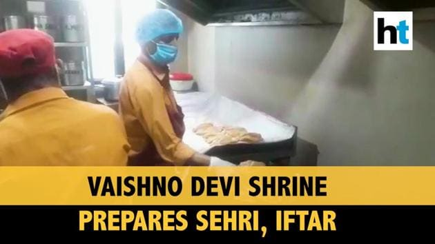 Shri Mata Vaishno Devi Shrine is preparing sehri and iftari for about 500 Muslims quarantined at Aashirwad Bhawan amid Ramzan. The shrine had converted its Aashirwad Bhawan into a quarantine facility in March in view of Covid-19. The Mata Vaishno Devi Shrine Board has been working overnight to provide food. The Shrine is one of the most revered Hindu shrines.
