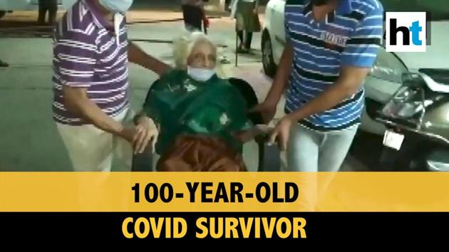 An elderly woman got a rousing welcome from her neighbours in Indore as she arrived after getting recovered from Covid-19. The 100-year-old woman, Chanda Bai, recovered from Covid-19 and returned home on May 21. Neighbours clapped for Chanda Bai as she entered the area.