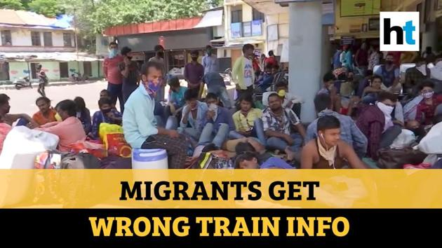 Migrant workers turned up at Pune Railway station after alleged wrong info. An alleged fake message was circulated asking migrants to come to railway station. Authorities told migrants that they were wrongly informed. Migrants who turned up took shelter at the bus stand nearby. Migrants have been facing problems over transportation.