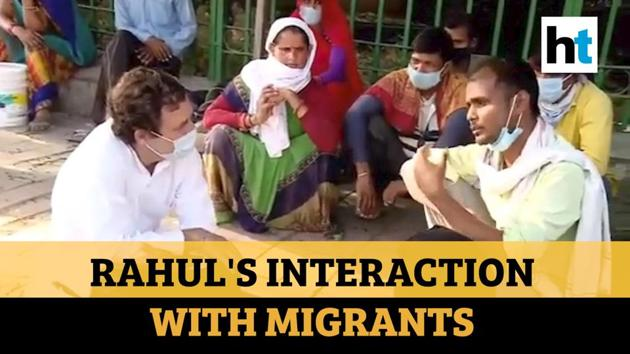 Congress released documentary film on Rahul Gandhi's interaction with migrants last week. Gandhi demanded justice for workers who are walking hundreds of kms to reach their homes. The documentary captures plight of migrants and their families as they long to return to their villages. The migrant workers were walking back to their native place in UP's Jhansi from Haryana. Gandhi had interacted with a group of migrants near Sukhdev Vihar flyover in Delhi last Saturday. Migrants have lost their means of livelihood in cities due to lockdown over coronavirus pandemic.