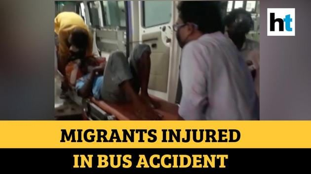 Around 20 migrant labourers were injured in a bus accident in Uttar Pradesh. The incident took place in Prayagraj at midnight of May 22. The bus was carrying around 30 migrant labourers. The accident happened after the bus overturned in Nawabganj area. Revenue Inspector Rajesh Kumar Singh informed that some of the migrants are seriously injured.