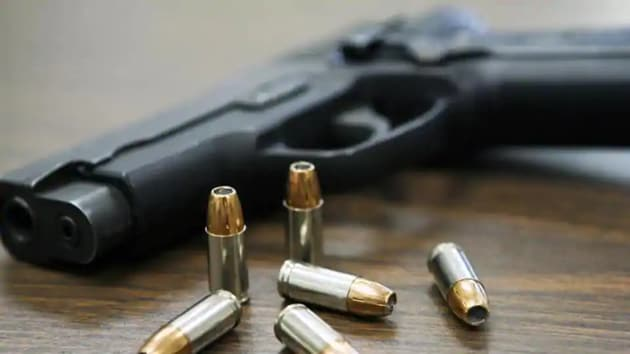 In a freak accident, a man shot himself in the ear late on Friday, only to have the bullet travel through his head, and out the other side, and hit his wife.