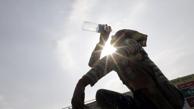 On Saturday, Pilani in Rajasthan recorded 46.7 degrees Celsius. (Photo by Rahul Raut/HT PHOTO)