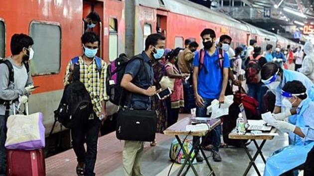 On arrival at their destination, the passengers will have to adhere to strict health protocols as prescribed by the destination state or Union Territory.(ANI PHOTO.)