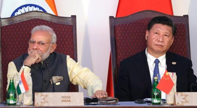 Prime Minister Narendra Modi with Chinese President Xi Jingpung(AP photo)