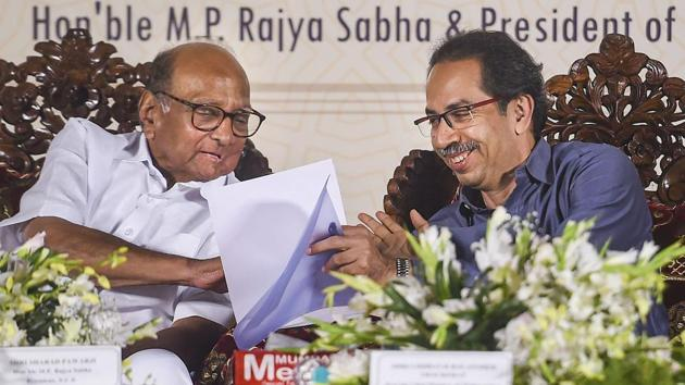 BJP hit out at CM Thackeray, while Congress said it has no key decision-making role. Pawar said the coalition is stable(PTI)