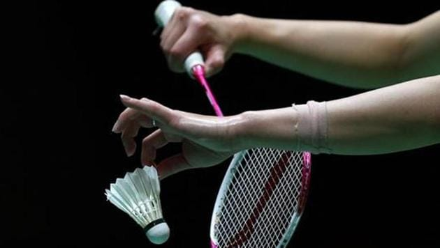 A detail shot of a shuttlecock and racquet during day two of the BWF World Badminton Championships.(Getty Images)