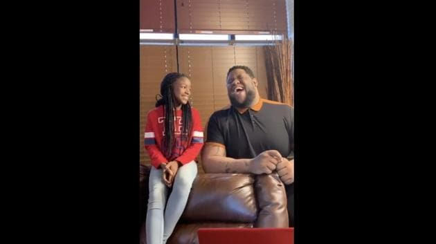 uncle and niece perform Marvin Gaye and Tammi Terrell's 'Ain't No Mountain High Enough'.(Instagram/@jbclarkeeee)