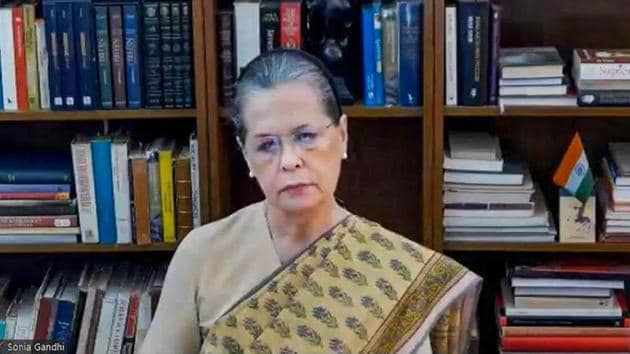 In a video message posted as part of the Congress's nationwide online campaign, Sonia Gandhi also urged the Centre to unlock its coffers to help those affected by the Covid-19-induced lockdown.(PTI)