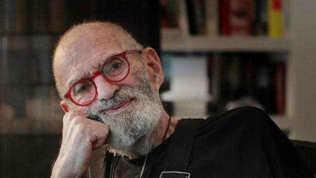AIDS activist and author Larry Kramer poses for a portrait in his apartment in New York, on June 24, 2019.(Reuters File Photo)