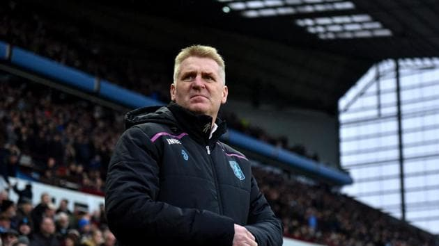 Dean Smith, Manager of Aston Villa .(Getty Images)