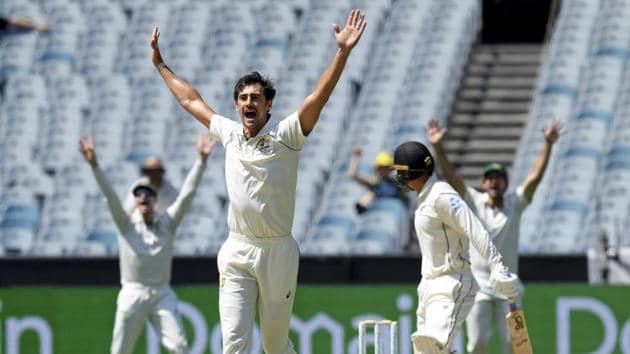 Australia's Mitchell Starc appeals during a Test match.(AP)