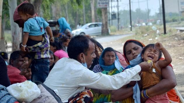 About 200 migrant workers have perished in tragedies during the lockdown.(PTI Photo)
