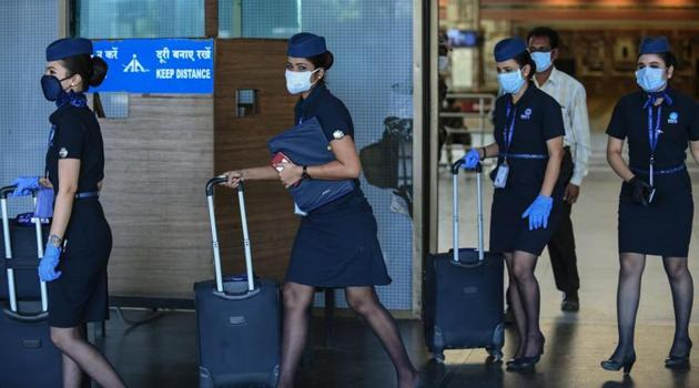 The operating crew has been home quarantined for 14 days and we are in the process of notifying other passengers as per government guidelines, an IndiGo spokesperson said. (Image used for representation).(AFP PHOTO.)