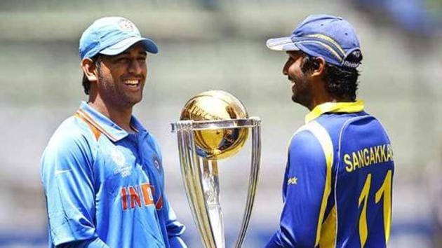 MS Dhoni and Kumar Sangakkara.(AP)