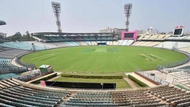 Kolkata: A view of the Eden Garden Stadium ahead in Kolkata(PTI)
