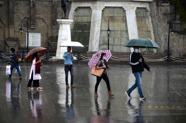 Shimla, the state's capital, received 9.7mm rainfall and recorded a maximum temperature of 26.3°C(HT FILE PHOTO)