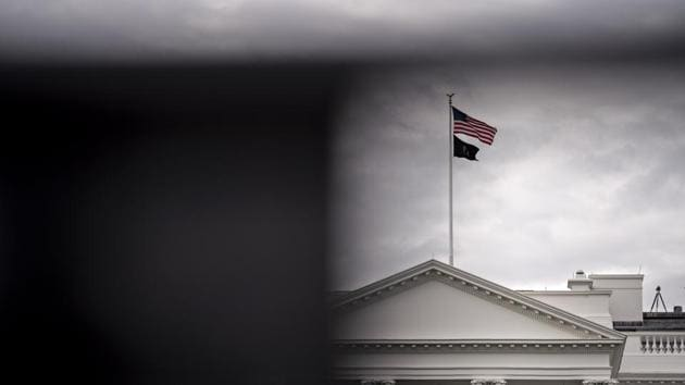 The White House stands past fencing in Washington, DC, US, on Wednesday, May 20, 2020.(Bloomberg)