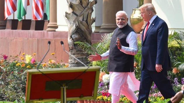 Prime Minister Narendra Modi and US President Donald Trump did not speak over China's incursions in Ladakh and LAC.(Mohd Zakir/HT File PHOTO)