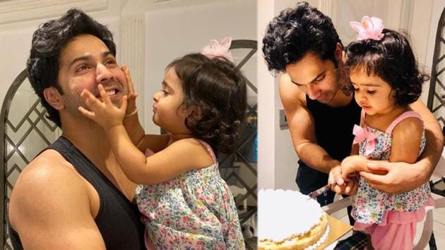 Varun Dhawan with his niece on her second birthday.