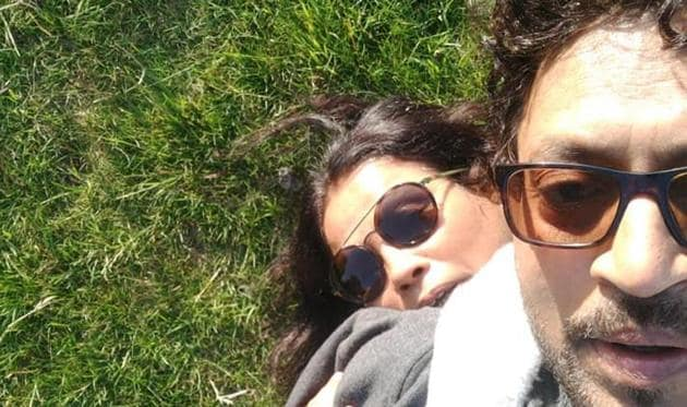 Irrfan and Sutapa pose in this lovely throwback picture.