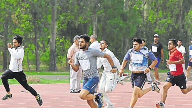 The DU offers admission under the sports quota in 27 disciplines including archery, athletics, cricket, football, badminton, hockey, swimming, wrestling, tennis, judo, and basketball, among others.(HT Archives)