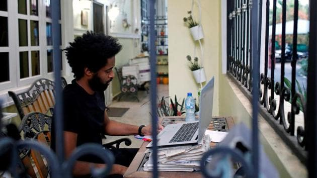 Charru Malhotra, associate professor at the Indian Institute of Public Administration, said ensuring equipment and infrastructure to work from home is efficient will be key.(Reuters file photo. Representative image)