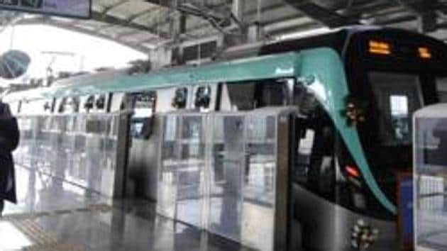 The NMRC had issued detailed guidelines on how Metro services will function after the curbs imposed during the nationwide lockdown are lifted.(Sunil Ghosh / Hindustan Times)