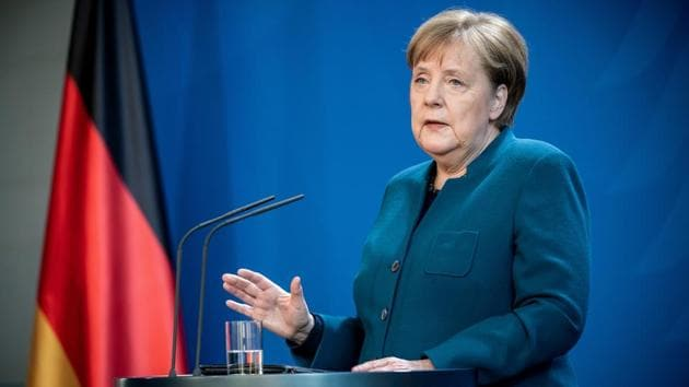 Immediately after that announcement, Merkel suggested she had not yet made up her mind on whether to attend in person or by video conference(via REUTERS)