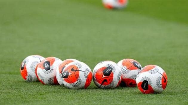 General view of match balls on the pitch before the match.(Action Images via Reuters)