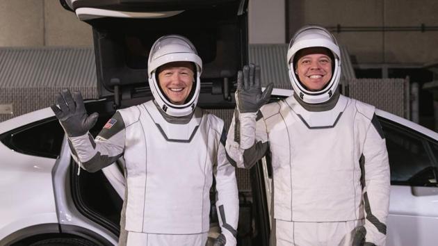 File photo of astronauts Doug Hurley, left, and Robert Behnken(AP File)