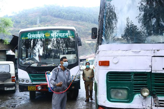Passengers will have to carry their own hand sanitisers and drinking water.(HT FILE PHOTO)