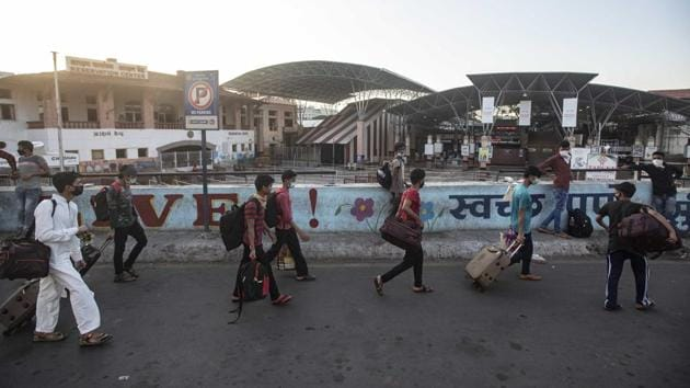 India has been under a lockdown since March 25 which has been extended thrice and is due to end on May 31. However, the government introduced several relaxations in a phased manner to re-start the economy badly hit by the Covid-19 pandemic.(Pratham Gokhale/HT Photo)