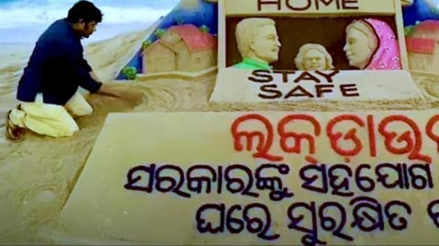 Odisha pays tribute to frontline workers as the country fights coronavirus pandemic.