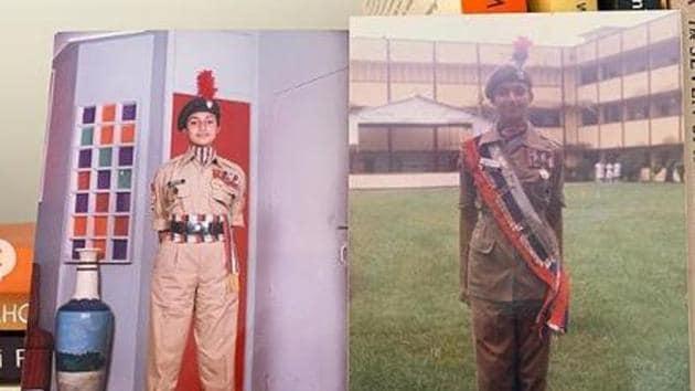 Divyanka Tripathi as an NCC cadet.