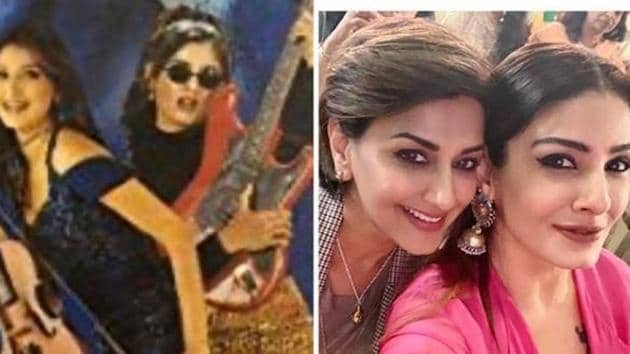 Sonali Bendre and Raveena Tandon look beautiful in throwback pictures.