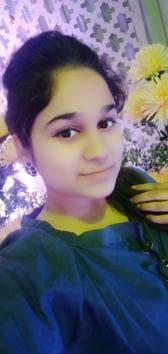 Aakriti, 19, who topped PU's Bcom third semester exams.(HT PHOTO)