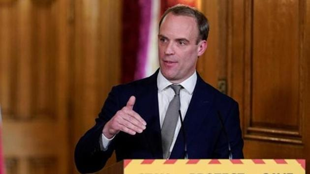 """Dominic Raab said on Sunday the """"careful"""" easing of the coronavirus lockdown was now the """"right step"""" to take.(via REUTERS)"""