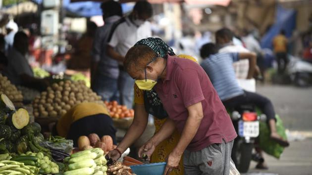 With most modelling studies saying the pandemic will peak in India in late July or mid August, protection measures must be closely followed for protection.(Parveen Kumar/HT file photo)