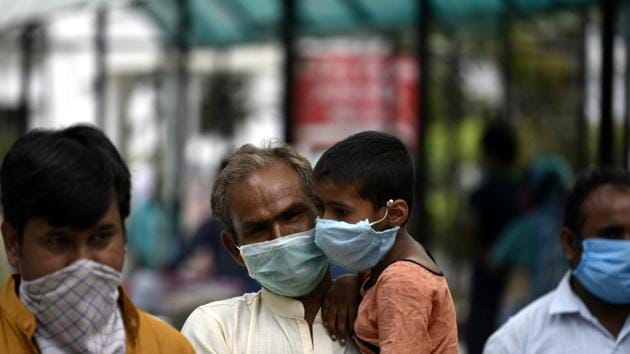 India's Covid-19 cases witnessed its highest spike as 8,380 more cases were reported in the last 24 hours, as per the latest data of the Union Ministry of Health and Family Welfare.(HT photo/ Dheeraj Dhawan)