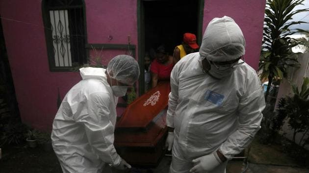 The death toll in Brazil from Covid-19 increased to 28,834, with 956 new deaths in the last 24 hours.(Reuters Photo)