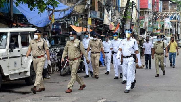 There have bene at least three incidents of unrest in the Kolkata Police this month.(ANI)
