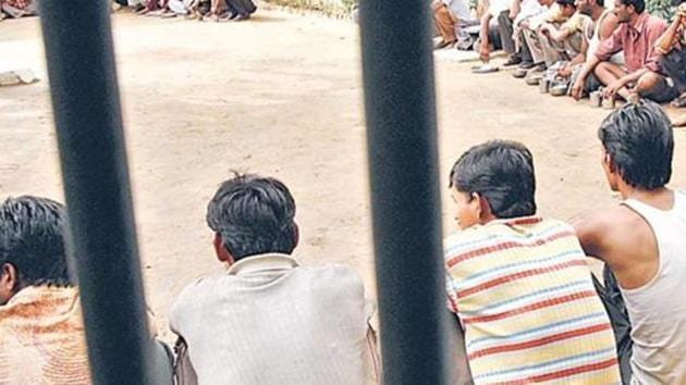 Authorities are concerned about the emergence of positive coronavirus cases among jail inmates.(HT Photo)