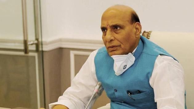 Defence Minister Rajnath Singh said both countries had made it clear that they wanted to resolve the problem.(PTI Photo)