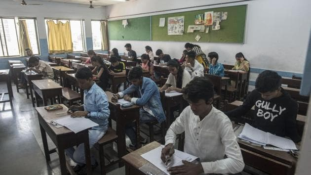 The exams will be held in three shifts a day for different courses and would test the understanding and analytical skills of students.(Satyabrata Tripathy/HT file photo. Representative image)
