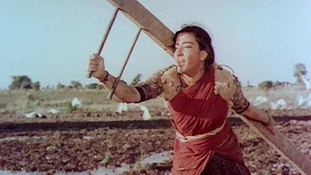 Nargis in Mother India.
