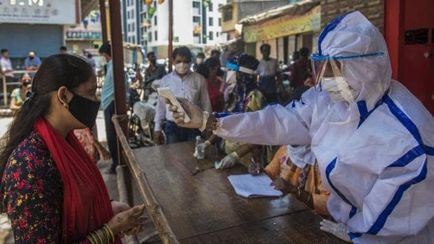 Because of the coronavirus pandemic, both growth and tax collections will face very strong headwinds.(Satyabrata Tripathy/HT Photo)