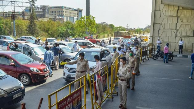 More than 500 police personnel in Delhi, including two Indian Police Service (IPS) officers, have tested positive for Covid-19 so far.(PTI file photo)